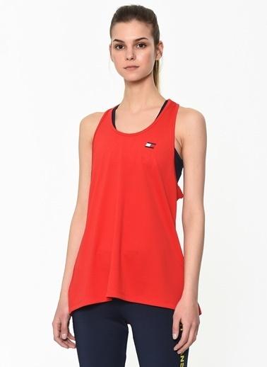 Tommy Hilfiger Kadın Tank Top Back Logo Tişört S10S100062 Kırmızı